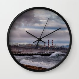 Crashing Beach Wall Clock