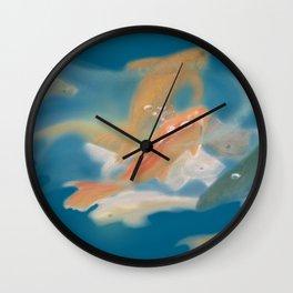 koi {blue} Wall Clock