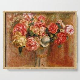 """Auguste Renoir """"Roses dans un vase de Sèvres"""" Serving Tray"""