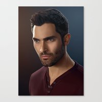 derek hale Canvas Prints featuring Derek Hale / Tyler Hoechlin by theconsy