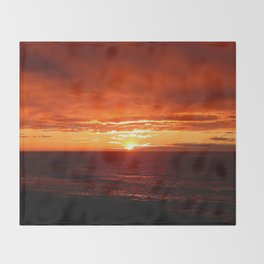 Sun Sets on the Mighty Saint-Lawrence Throw Blanket