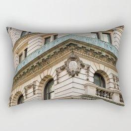 Mint and Cream New York City Rectangular Pillow