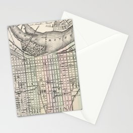 Vintage Map of Louisville Kentucky (1884) Stationery Cards