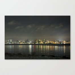 Halifax at Night (1) Canvas Print
