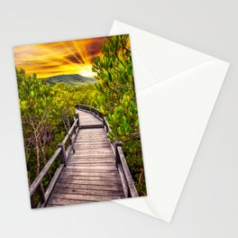 Mangrove Forest Sunset Stationery Cards