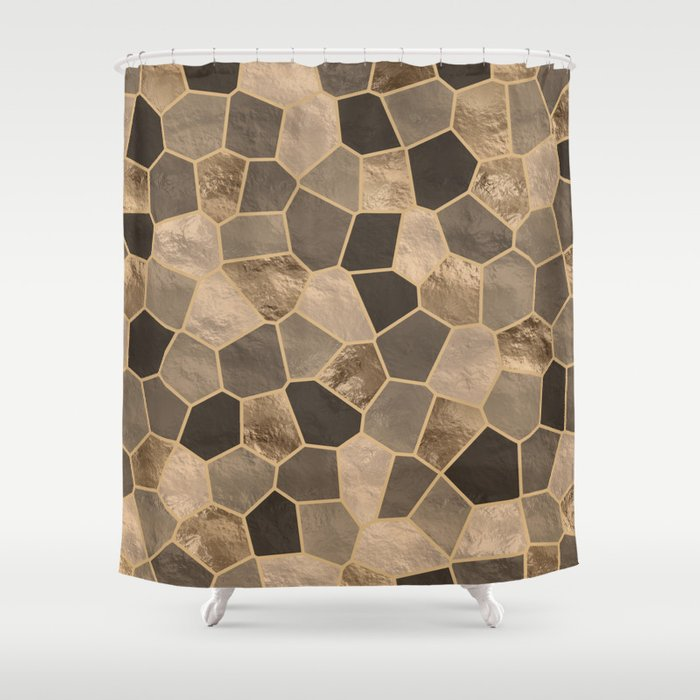 Mosaic Pattern - Golds #2 Shower Curtain