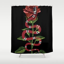 The Snake And The Rose Shower Curtain