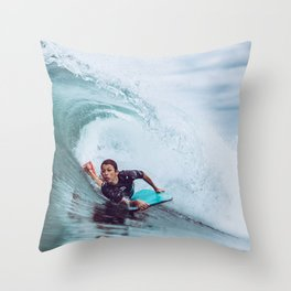 Surf Brazil Throw Pillow