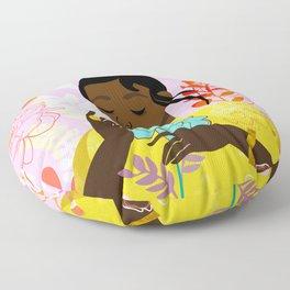 Marigold in October Floor Pillow