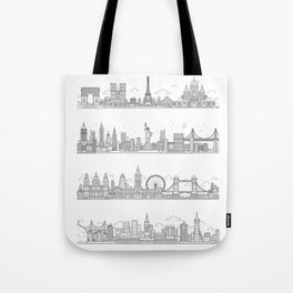 Skylines Tote Bag