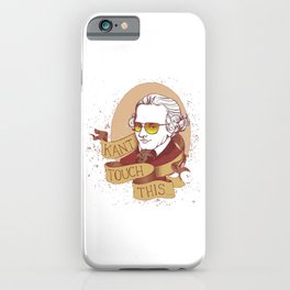 Immanuel Kant Pose iPhone Case