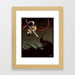 Slay the Dragon! Framed Art Print
