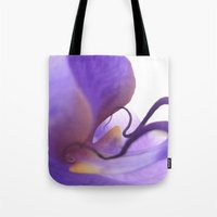 orchid Tote Bags featuring Orchid  by Lena Weiss