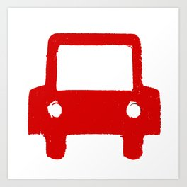 Kids Club - Car Red Art Print
