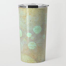 Goldy Mint Bubbles   Minimalist   Abstract   Modern   Shapes   Geometrix Travel Mug