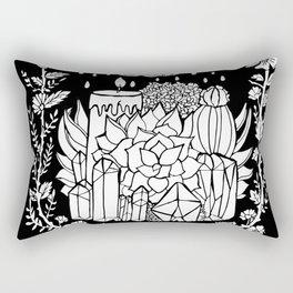 Succulents and Crystals Rectangular Pillow