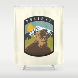 Bigfoot Patch Shower Curtain
