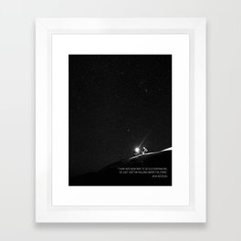 Keep on Rolling Under the Stars Framed Art Print