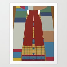 The Fourth (4th) Doctor - Doctor Who Art Print