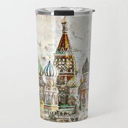 Saint Basil, Moscow Russia Travel Mug