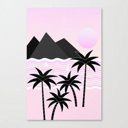 Hello Islands - Pink Skies Canvas Print