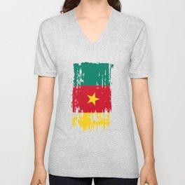 CM CMR Cameroon Flag Unisex V-Neck