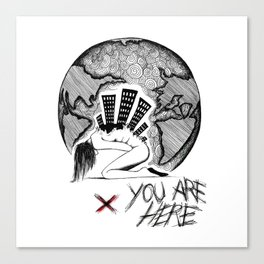 You Are (-_not-) Here Canvas Print