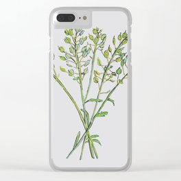 Botanical Seed Heads Drawing Clear iPhone Case