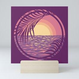 Beach Sunset Mini Art Print