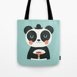 Panda Loves Coffee Tote Bag