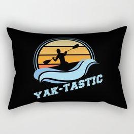 Retro Kayaking Vintage Sunset Yak-tastic Rectangular Pillow