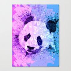Colorful Geometric Panda Art - Cute Pandas Canvas Print