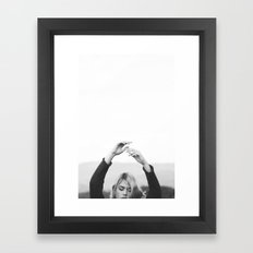 Hands in air Framed Art Print