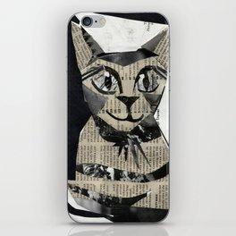 Newspaper Cat iPhone Skin