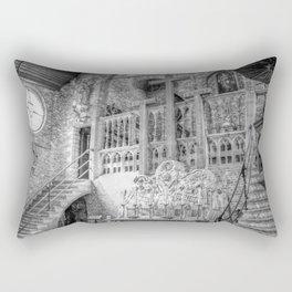 Church Chapel Black & White Rectangular Pillow