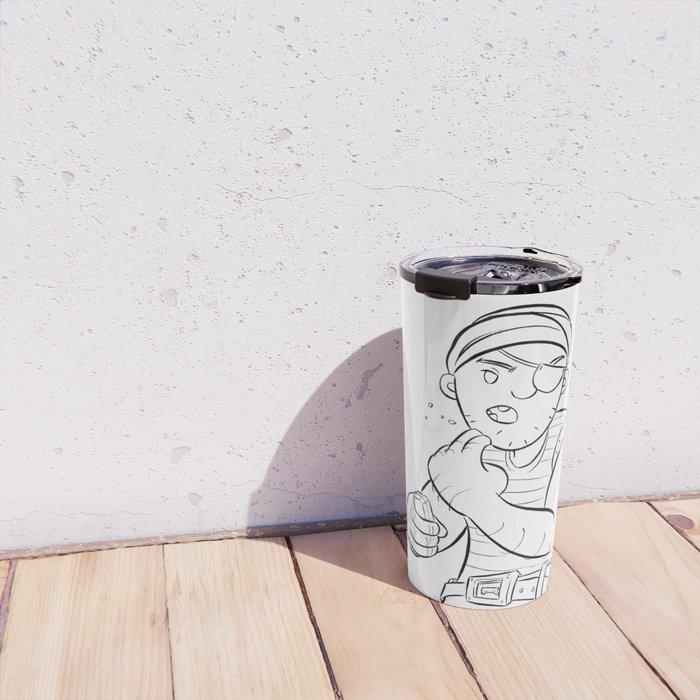 Stowaway Pirate - ink Travel Mug