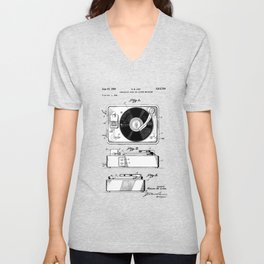 patent art Like combination sound and picture mechanism 1950 Unisex V-Neck