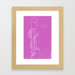 Spring Breakers/Vampire Weekend (Pink) Framed Art Print