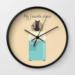 My Favorite Place Wall Clock