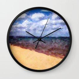 Beach Under Blue Skies Wall Clock