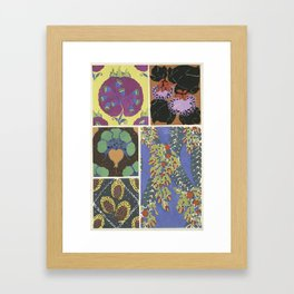 vintage ornate art deco pattern Framed Art Print