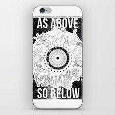 As Above, So Below - Zodiac Illustration iPhone & iPod Skin