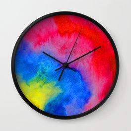 Color Cloud Wall Clock