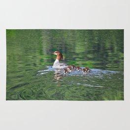 Merganser Duck Family Rug