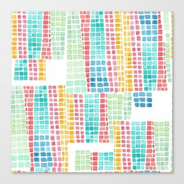 rubix cube love Canvas Print