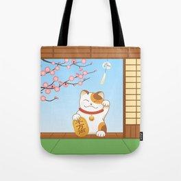 Maneki Neko Tote Bag
