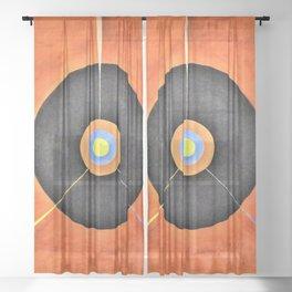 11,000px,600dpi-Hilma af Klint - The Swan, No.18, Group IX/SUW - Digital Remastered Edition Sheer Curtain