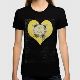 """Bees and Blooms V: Watercolor illustrated honeybee """"Beautiful"""" T-shirt"""
