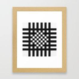 Interwoven Stripes Framed Art Print