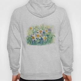 Daffodils watercolor illustration Hoody